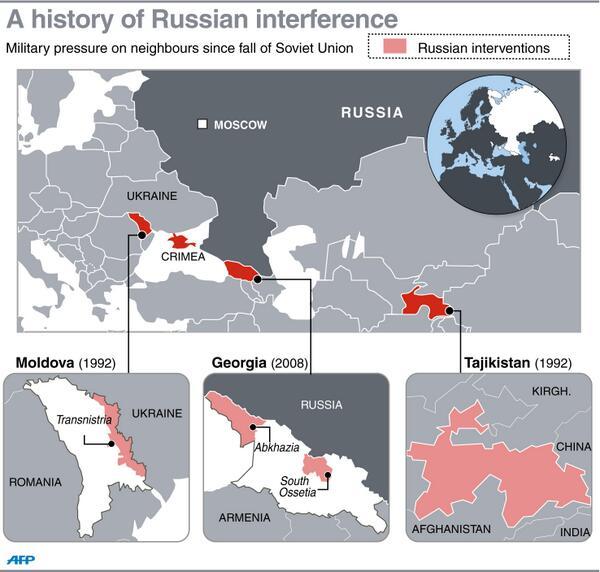 Gli interventi militari russi dal 1989 a oggi