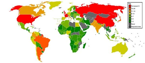 Tutti i membri del Consiglio di Sicurezza dell'ONU