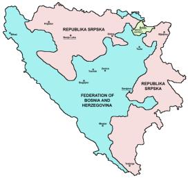 La struttura federale della Bosnia-Erzegovina