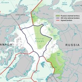 I confini tra le regioni dell'Artico rivendicate dai vari stati